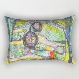 Casa de colors amb finestres-tortuga Rectangular Pillow