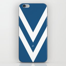 Blue V Abstract Retro Design iPhone Skin