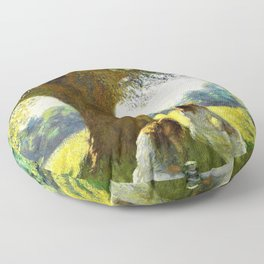 12,000pixel-500dpi - George Clausen - The spreading tree - Digital Remastered Edition Floor Pillow