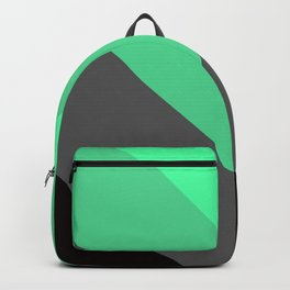Mint Green Gray Chevron Stripes Backpack