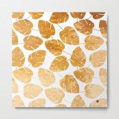 Gold leaf pattern 03 Metal Print