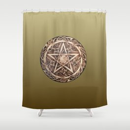 Brigid's Pentacle Shower Curtain