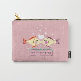 VALENTINE'S FISH IN LOVE Carry-All Pouch