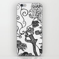 afro iPhone & iPod Skins featuring Afro  by Camila Rodrigué