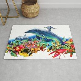 Lively Coral Reef Rug