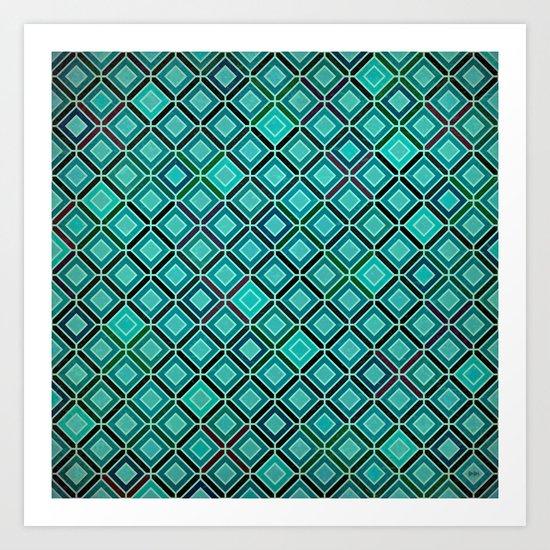 bermuda squares Art Print