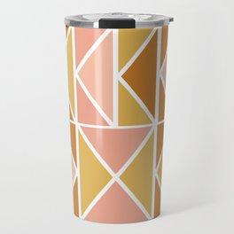 Blush and Terracotta Shapes Travel Mug