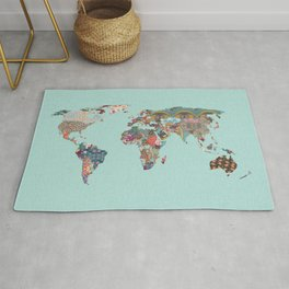 Louis Armstrong Told Us So (teal) Rug