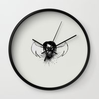 angel Wall Clocks featuring angel by Abraxas (luciana cabane)