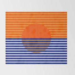 Orange Split Sun Throw Blanket