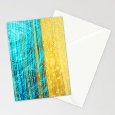 364 13 Gold and Blue Stationery Cards