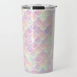 Mermaid, Pastel Rainbow Travel Mug