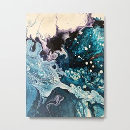 BUBBLEGUM GALAXY | Acrylic fluid art by Natalie Burnett Art Metal Print