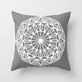 Grey Aztec Throw Pillow
