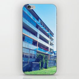 Apartment residential buildings with outdoor facilities iPhone Skin