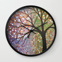constellations Wall Clocks featuring Constellations  by Amy Giacomelli