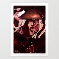Tribute to Uchiha Itachi Art Print