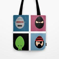 Robot Ninja Cthulhu Pirate Tote Bag