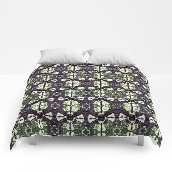 Eggplant Bloom Comforters