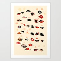 lips Art Prints featuring Lips by Visualcrafter