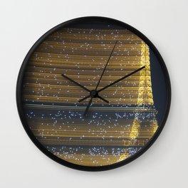 Sparkling Eiffel Tower Wall Clock