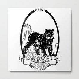 Bryce Canyon Emblem Metal Print