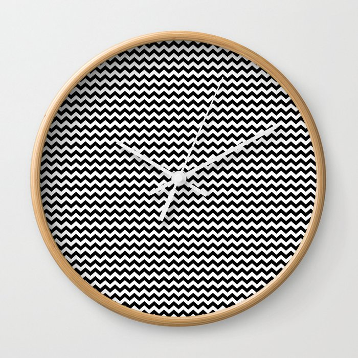 Chevron Black Wall Clock