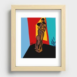 2021 Powerful Colorful Nubian Passion by Marcellous Lovelace Recessed Framed Print