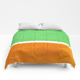 Pastel Mint Green Yellow Ochre Rothko Minimalist Mid Century Abstract Color Field Squares Comforters