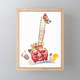 Third grade fire brigade Framed Mini Art Print