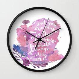 favorite things - juliette Wall Clock