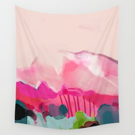 pink mountain Wall Tapestry