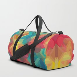 1990s Inspired Geometric Color Palette // VIBRANT ABSTRACT MULTI GRAPHIC Duffle Bag