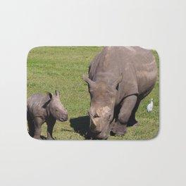 Baby Rhino & Mama Bath Mat