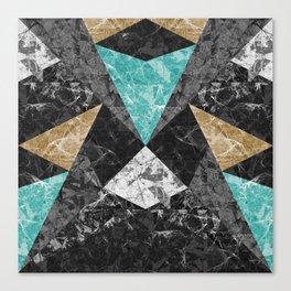 Marble Geometric Background G430 Canvas Print