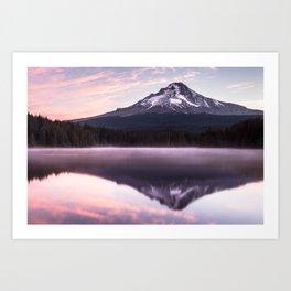 Lake Trillium Sunrise Art Print