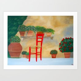 The Red Chair  Art Print
