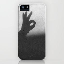 OK (B&W) iPhone Case