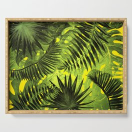 Tropical Leaves Aloha Jungle Garden Serving Tray