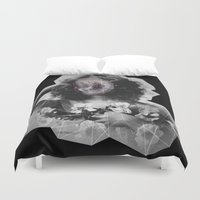geode Duvet Covers featuring Geode Face by hunnydoll
