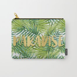 Paradise in Hawaiian Palm Tree Leaves Carry-All Pouch