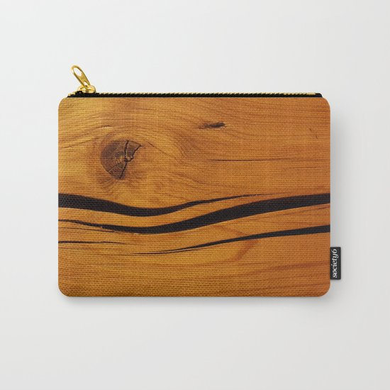 Wooden texture Carry-All Pouch