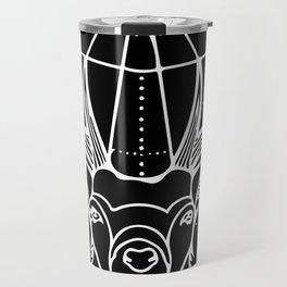 Geometric Stag Deer Head in White Travel Mug