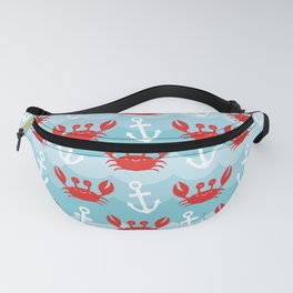 Anchor's Away Crab Fanny Pack