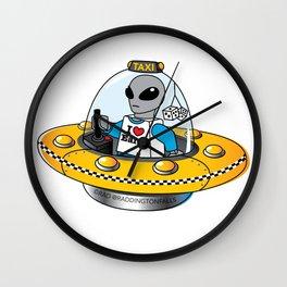 Alien Taxi Wall Clock