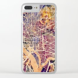 Washington DC City Street Map Clear iPhone Case