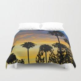 Palm Trees LA Duvet Cover