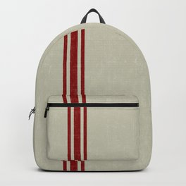 Vintage French Country Grainsack Berry Linen Backpack