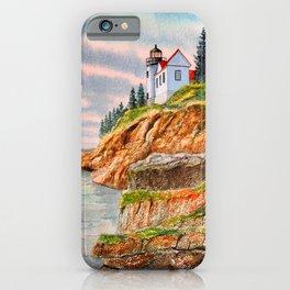 Bass Harbor Head Lighthouse Maine iPhone Case