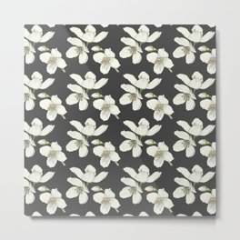 Lewis's Mock-Orange Pattern Metal Print
